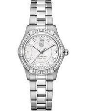 WAF1313.BA0819 Tag Heuer Ladies Aquaracer Quartz Pearl Diamond MIDSIZE Watch