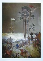 Alfons Mucha ZUSAMMENKUNFT NA KRIZKACH Bild Poster - Tschechische Kunst