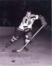 Autographed Eddie Sanford 8x10 Photo NHL Boston Bruins w/coa jh8x10