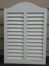 Vintage Lawson metal medicine cabinet White wood shutter door 23 1/2 x 16 1/4