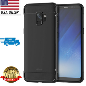 JETech Case for Samxung Galaxy S9 Shock-Absorption Carbon Fiber Cover