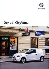 Volkswagen Vw Up! CityVan 09 / 2015 catalogue brochure