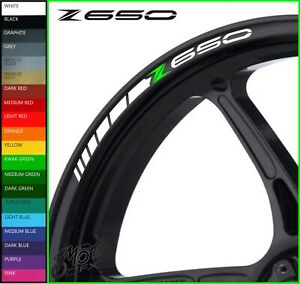 12 x Z650 Wheel Rim Decals Stickers - 20 colors available - z 650 performance