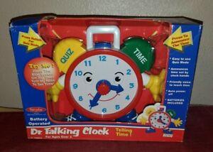 Navystar Electronic Talking Clock Educational Learning/Teaching Time W/Quiz
