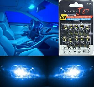 Canbus Error LED Light 168 Blue 10000K Ten Bulbs Interior Map Replacement Fit OE