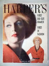Harper's Bazaar - British UK Edition - October, 1959 ~~ First Big-Size Number