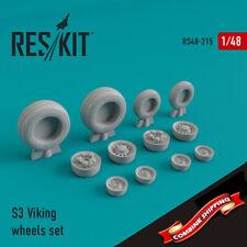 ResKit 48-0215 S-3 Viking wheels set (resin wheels) 1/48
