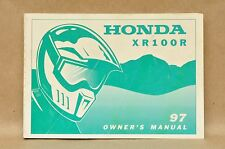 1997 Honda XR100 R Dirt Bike Factory Owners Maintenance Manual 00X31-KN4-7200