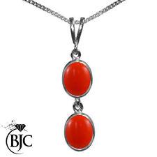 Collares y colgantes de joyería con gemas naturales de coral