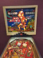 """Gottlieb """"Big Brave"""" Pinball Machine 1974"""