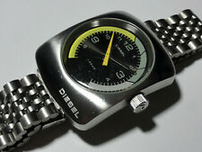 Diesel mens large chunky watch DZ-2055 new battery works great