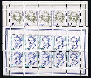 1997 BRD Mi.Nr. 1939-1940 Kleinbogen postfrisch