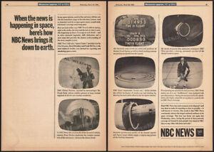 NBC News - Gemini 8__Original 1966 Trade print AD / poster__David Brinkley__NASA