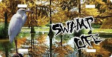 Personalized Custom License Plate Auto Car Tag Swamp Life