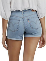 Levi's Women's Mid Length Short In Light Wash Blue-(29965-0054)size W28