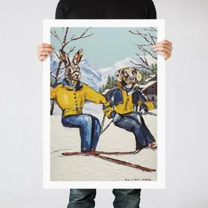 GILLIE AND MARC | Giclee Print Limited Ed | Direct from Artists | Skiing Living