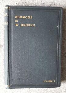 Sermons by Walter Brooke - volume 1, (small hardback) Farncombe 1908