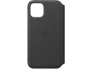 Funda - Apple Leather Folio, Para el iPhone 11 Pro, Con tapa y tacto suave, Negr