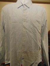 English Laundry Men's Striped Shirt with 1 front pockets &  flip cuffs XL