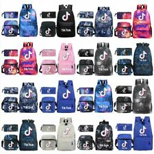 3Pcs Kids Child Tik Tok Bag Set Shoulder Bag Pencil Case Backpack School bags