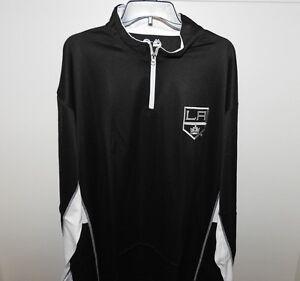 NHL Majestic Los Angeles Kings 1/4 Zip Hockey Jacket New Big & Tall Mens 4XL