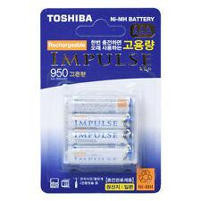 TOSHIBA IMPULSE TNH-4AH-2P Rechargeable AAA 4 PCS Made in Japan