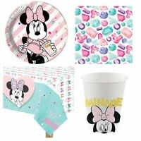 Minnie Mouse Party Pack for 8 Guests - Plates, Napkins, Cups & Tablecover