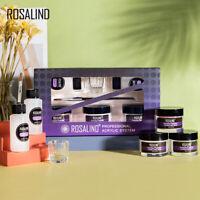 Rosalind 6 or 7 Pcs Acrylic Starter Kit Liquid Monomer And 3 Color Powder