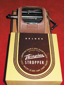 TWINPLEX Stropper Safety Razor Sharpener 1960's! Not ship to Canada!
