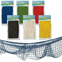Decorative Fishing fish Net Party Balloon Nets 12 ft x 4 ft Choose Your Colour
