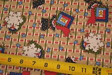 """By 1/2 Yd, 42"""" Wide, Quilt & Winter Themes on Quilting Cotton, Spectrix, M1747"""