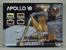 Four Rare Pieces of Kapton Foil From the Canceled Apollo 18 Lunar Module w/COA