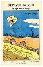 Anti-Hitler/Nazi-FOOEY ON FUEHRER-Sgt Dave Breger Propoganda Postcard WWII