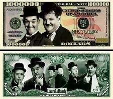 LAUREL et HARDY - BILLET DE COLLECTION 1 MILLION DOLLAR US ! cinéma Comique Muet
