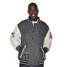 NFL Vintage Varsity Jacket with Leather Sleeves Colts New XL