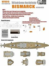 Hunter 1/700 W70015 Wood deck German Bismarck for Trumpeter