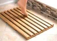 New Bamboo Wood Wooden Slatted Duck Board Rectangular Bathroom Bath Shower Mat