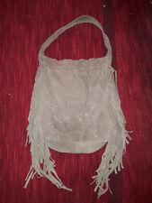 sac a main avec franges MAJE gris en cuir