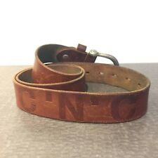 C'N'C' Costume National Brown Leather Belt CNC