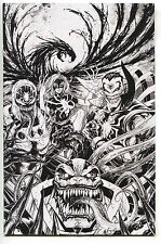 X-Men Prime 1 KRS Wondercon Tyler Kirkham Venomized B&W Variant Venom Apocalypse