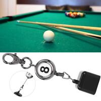 Portable Retractable Billiards Snooker Pool Cue Chalk Holder Drawing Key Ring