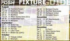 Fixture List - Peterborough United 2004/5
