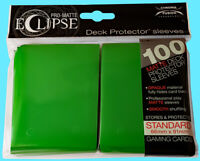 100 ULTRA PRO ECLIPSE LIME GREEN STANDARD PRO-MATTE DECK PROTECTOR Card Sleeves