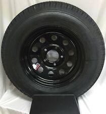 Trailer Tire On Rim St205/75D15 205/75 D 15 Load C 5 on 5 Black Modular Wheel