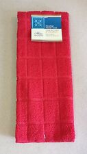 Kitchen Towel Accessory Microfiber Red Solid Color NEW