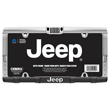 New Original JEEP Elite Grill Chrome Metal Front Rear License Plate Frame