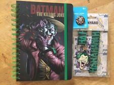 DC COMICS-THE JOKER. NOTE BOOK, LANYARD & BADGE.