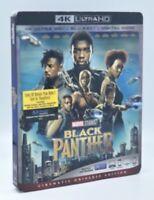 Black Panther (4K Ultra HD+Blu-ray+Digital Code, 2018) NEW w/ Slipcover