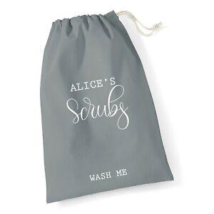 PERSONALISED UNIFORM BAG 100% Cotton Bag | Scrubs Bag NHS Nurse Doctor Laundry