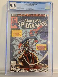 Amazing Spiderman #210 🕷 CGC 9.6 1st App MADAME WEB White Pages Romita JR MOVIE